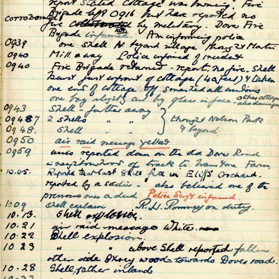 St Margaret's ARP (Air Raid Precautions) Log. Volume 3. 2 November 1940 - 17 February 1941. Pages 43-51