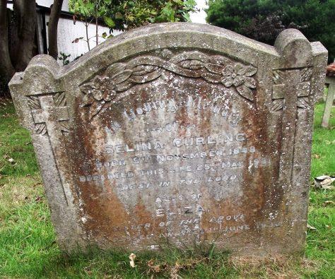 Gravestone of CURLING Selina 1931; CURLING Eliza 1932