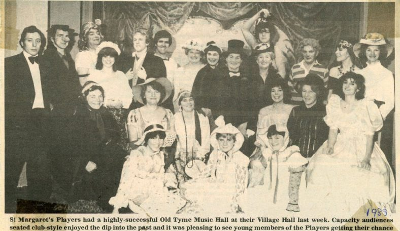 Press photographs of the St. Margaret's Players 'Old Tyme Music Hall'