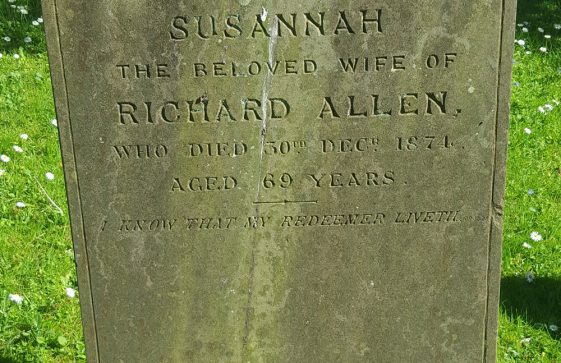 Gravestone of ALLEN Susannah 1874