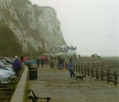 Cliff fall and attendant ambulance. 1 January 2011