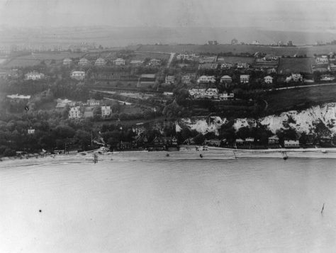 Aerial view of St Margaret's Bay from the sea. Between 1914 and 1923