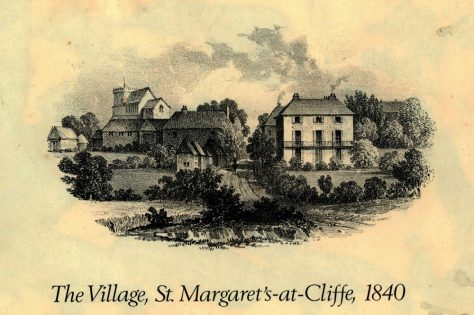 Engraving of St Margaret's Church and Marine House from Sea Street. 1840