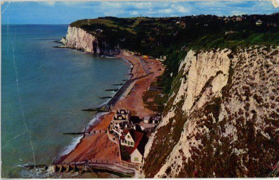 St Margaret's Bay from The Leas. postmark 1971