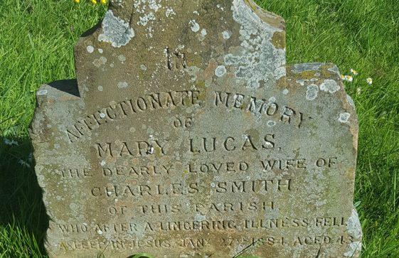 Gravestone of SMITH Mary Lucas 1884