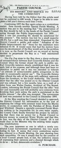 Zig-Zag Steps and other Parish Council Matters 1895
