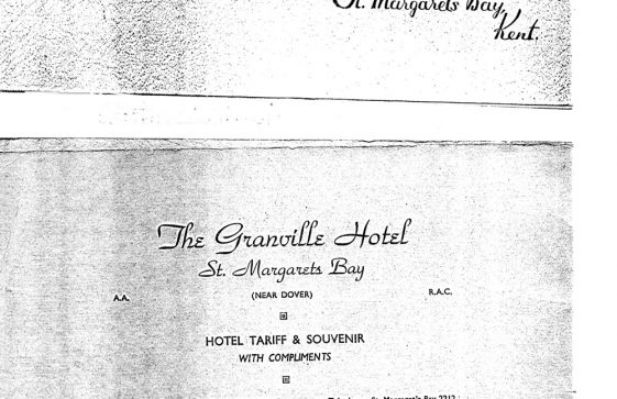 Granville Hotel, Hotel Road: Brochure. Pre Second World War