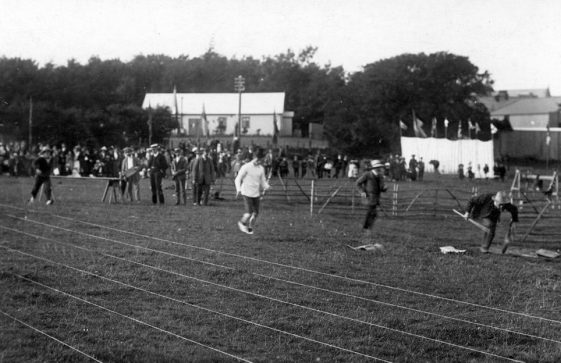 Spectators, officials and contestants at St Margaret's Sports Day.  c1900
