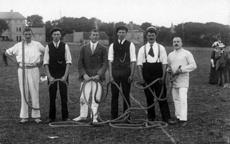 Tug-of-War at St Margaret's Sports Day. 1911