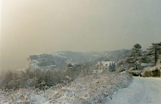 Granville Hotel, Hotel Road, in the snow. 1991