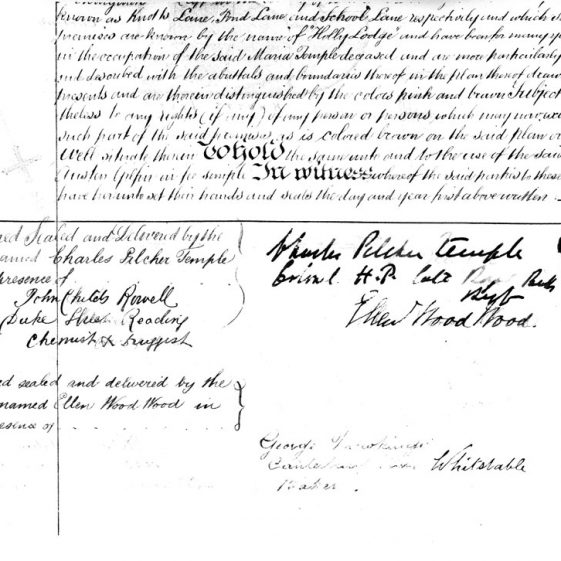 Transcript of a Conveyance of freehold messuage and hereditaments known as Holly Lodge. 1892