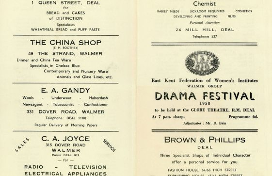 Programme for the WI Drama Festival 1958