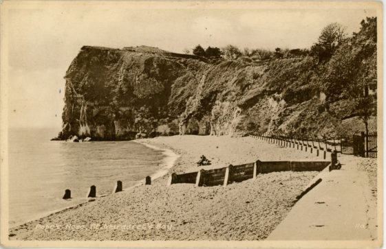 Ness Point from the beach. postmark 1950