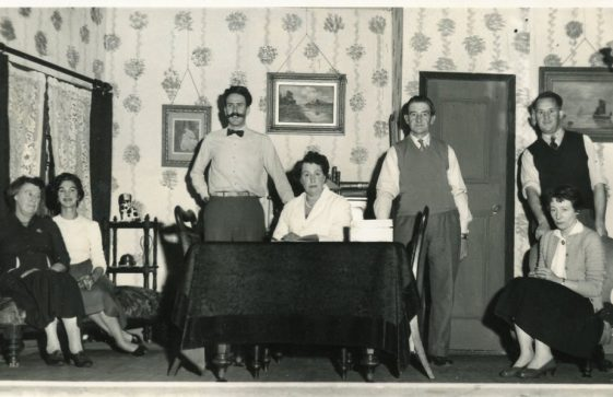 Scene from St Margaret's Players production of 'Rock-a-Bye Sailor'. 1971
