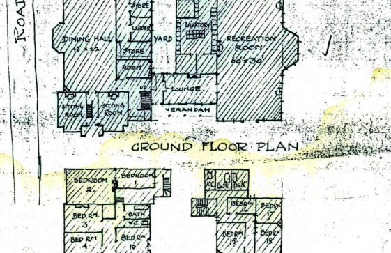 Sketch plans of Morley House dated 1919