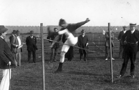 High Jump at St Margaret's Sports Day. c1910