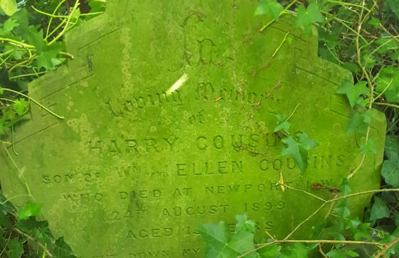 Gravestone of COUSINS Harry 1899