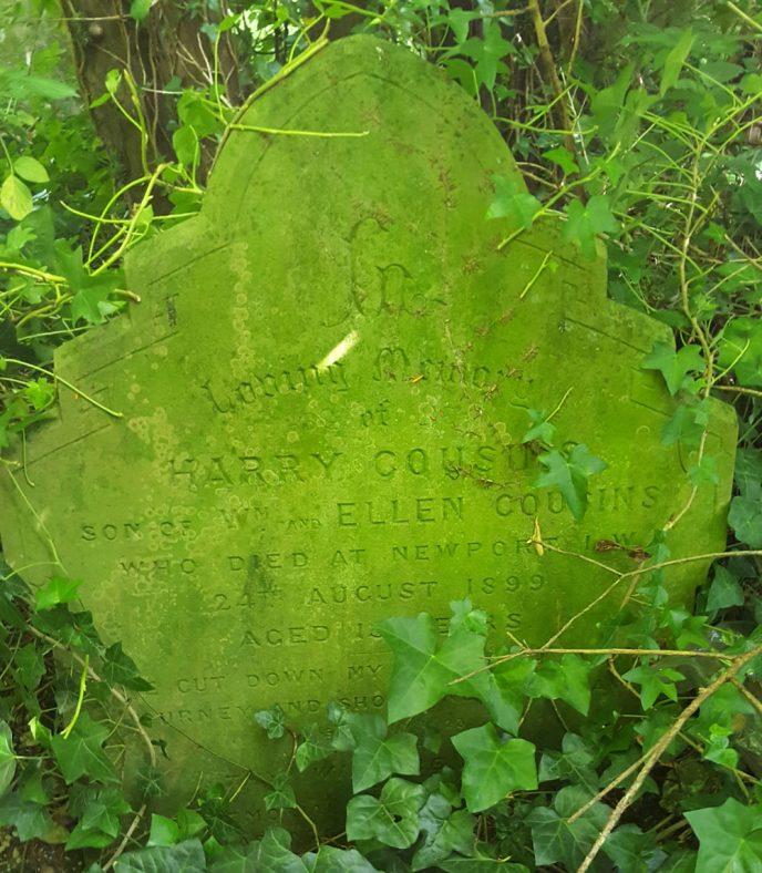 Gravestone of COUSINS Harry 1899   Dawn Sedgwick