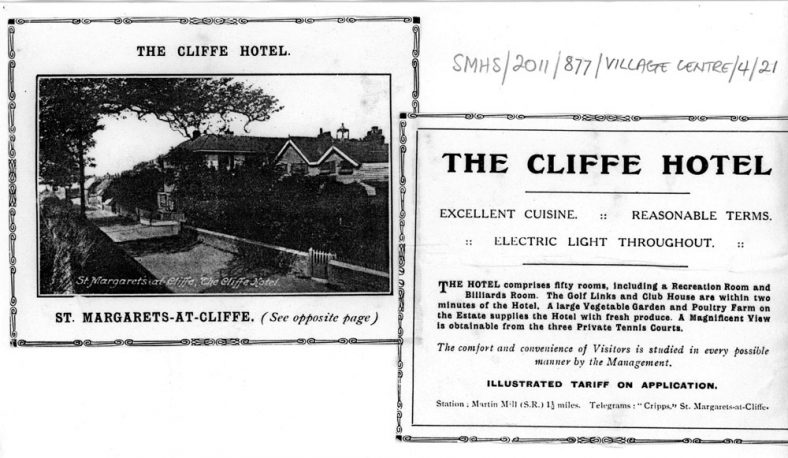 Extracts from a local Guide Book featuring The Cliffe Hotel. late 19thc
