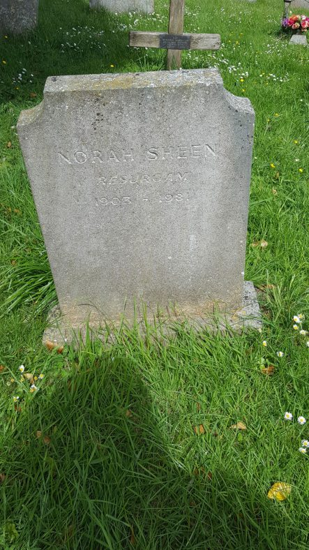 Gravestone of SHEEN Norah 1981   Dawn Sedgwick