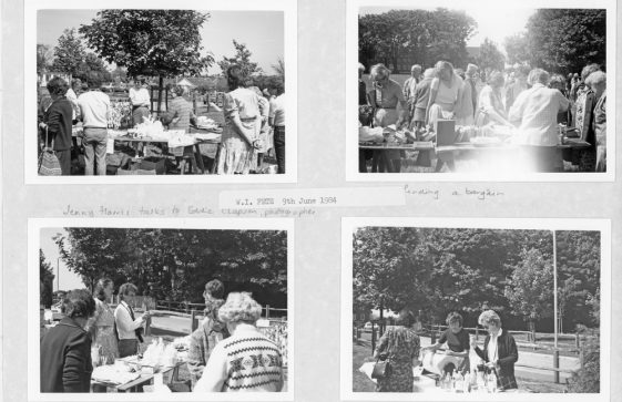 The WI Fete held on the Glebe Field Reach Road on 9th June 1984