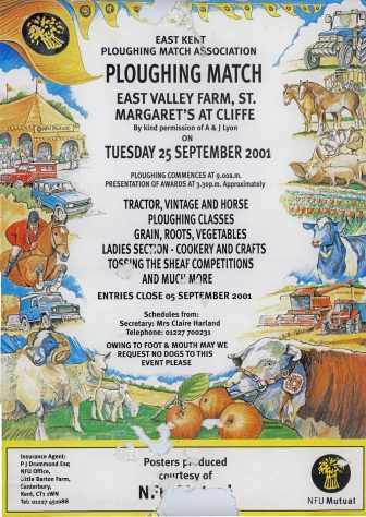 Poster advertising the East Kent Ploughing Match on 25 September 2001