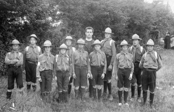 St Margaret's Scout Troop with the Rev Moberley. 1910