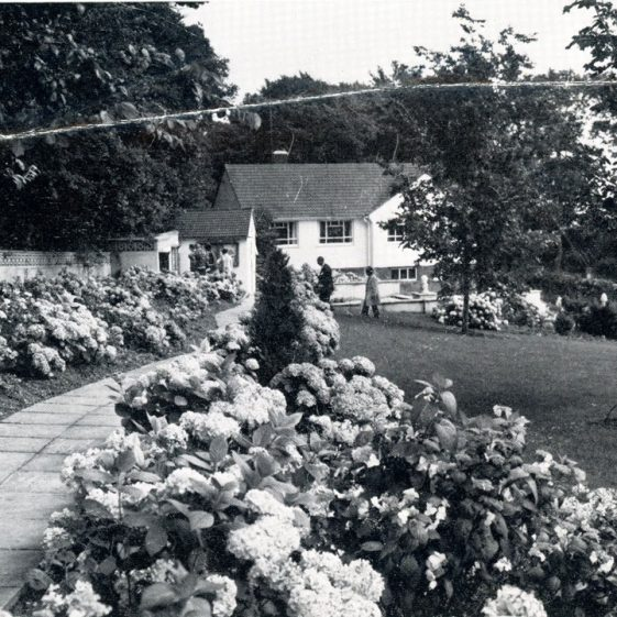 The Pines Garden; unveiling statue of Winston Churchill