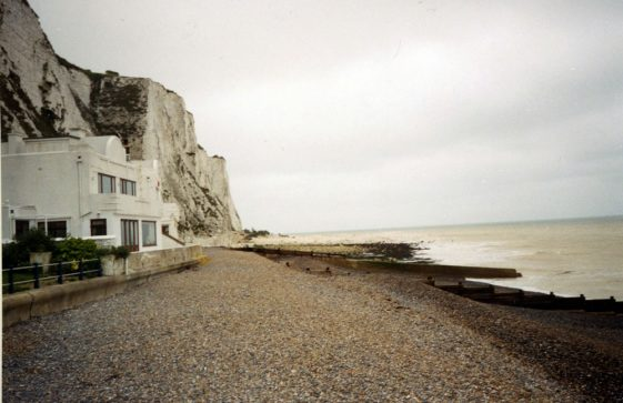 Cliff fall at The Leas end of St Margaret's Bay. 2000