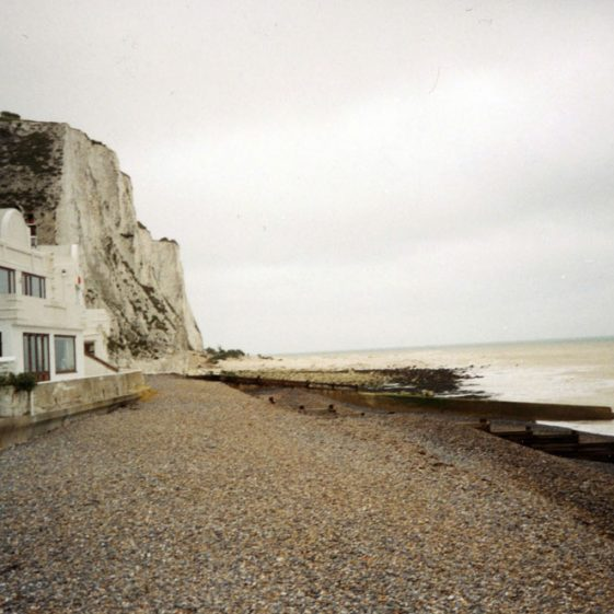 Cliff fall atThe Leas end of St Margaret's Bay. 2000