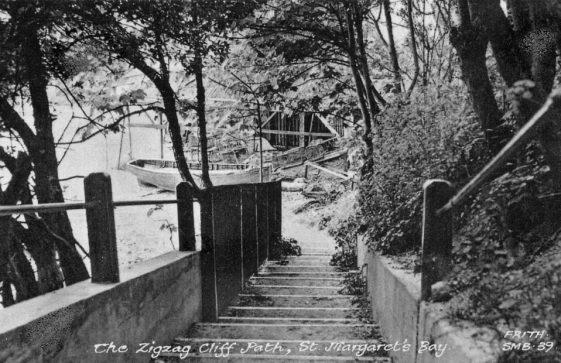 Zigzag Steps, St Margaret's Bay. Undated