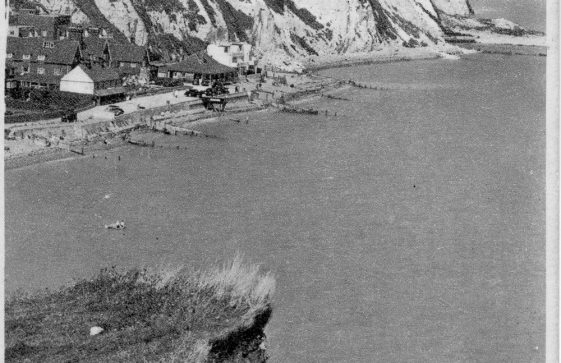 St Margaret's Bay Hotel and Cliffs from Ness Point. post 1935