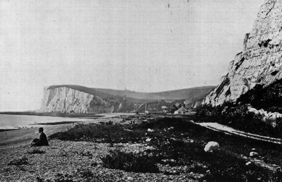 Ness Point from the beach. 1880s
