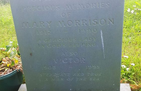 Gravestone of CAMPBELL Mary Morrison 1990; CAMPBELL Victor 1995