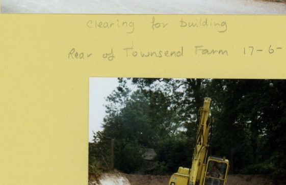 Holm Oaks, Dover Road building site at the rear of Townsend Farm. 1986