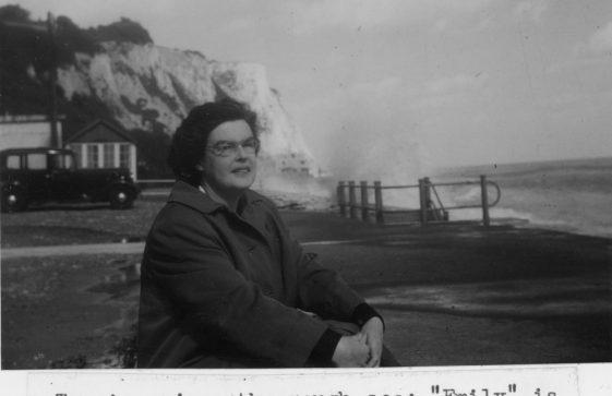 Tommie Denoon on St Margaret's Bay promenade.