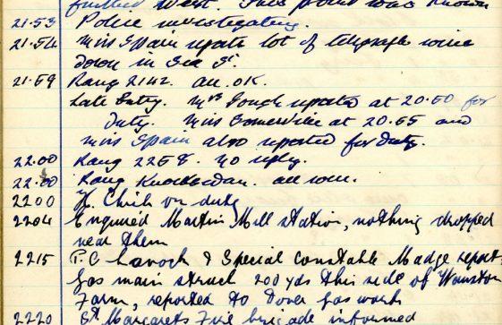 St Margaret's ARP (Air Raid Precautions) Log. Volume 6. 17 July 1942 - 16 February 1943. Pages 133-140