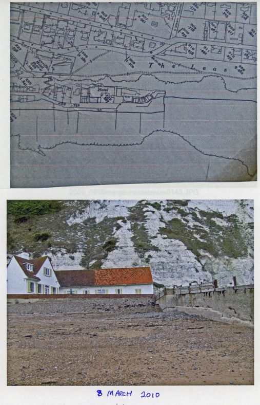 Houses at the eastern end of the Bay; Sketch map of properties. 8 March 2010
