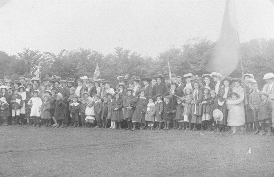 Spectators at St Margaret's Sports Day. c 1910
