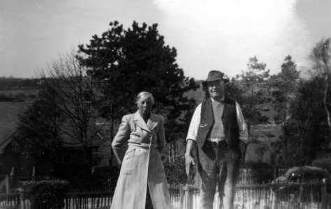 Annie Sharpe with her father