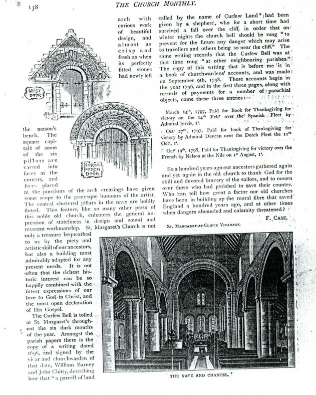 St Margaret's Church by the Rev F Case from the 'Church Monthly'. 1898 [?]