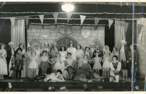 Cast of an unidentified pantomime by St Margaret's Players