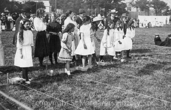 Girls' Potato Race at St Margaret's Sports Day. 1913