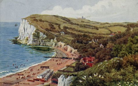 Watercolour of St Margaret's Bay by AR Quinton. c1925