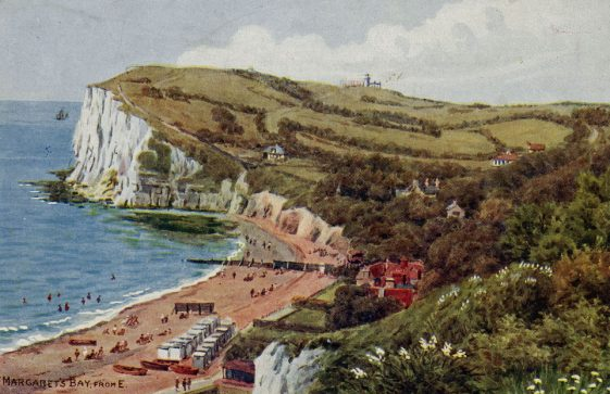 Watercolour of St Margaret's Bay by AR Quinton. c1925