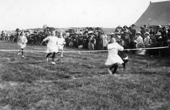 Girls' Running Race at St Margaret's Sports Day. c1910