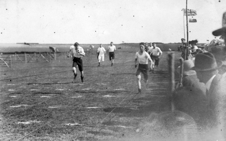 Running Race at the 16th Annual St Margaret's Sports Day. 1911