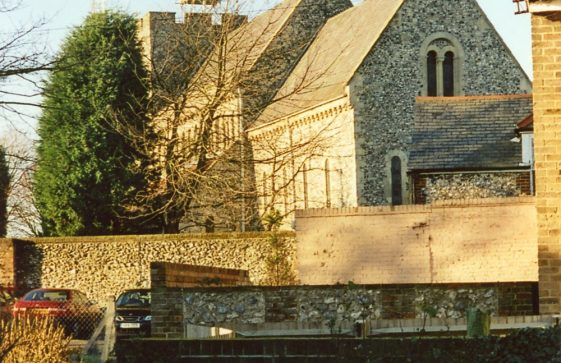 St Margaret's Church from the Parsonage footpath. 2004