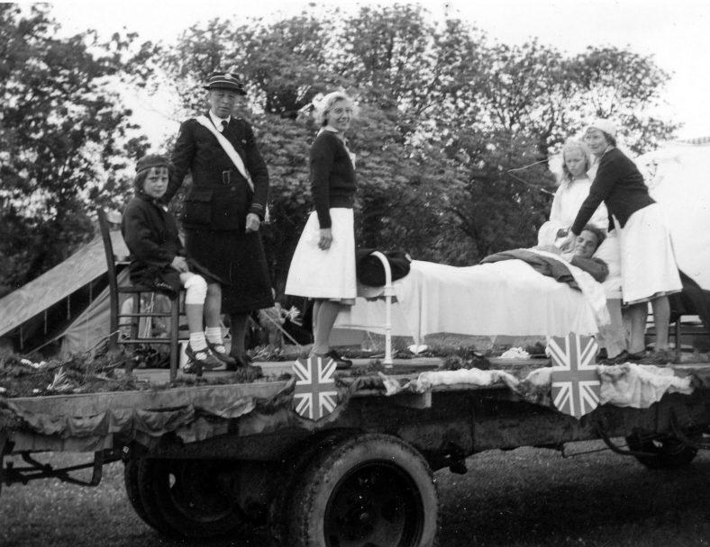 Annie Sharpe at the village Coronation celebrations, 1953