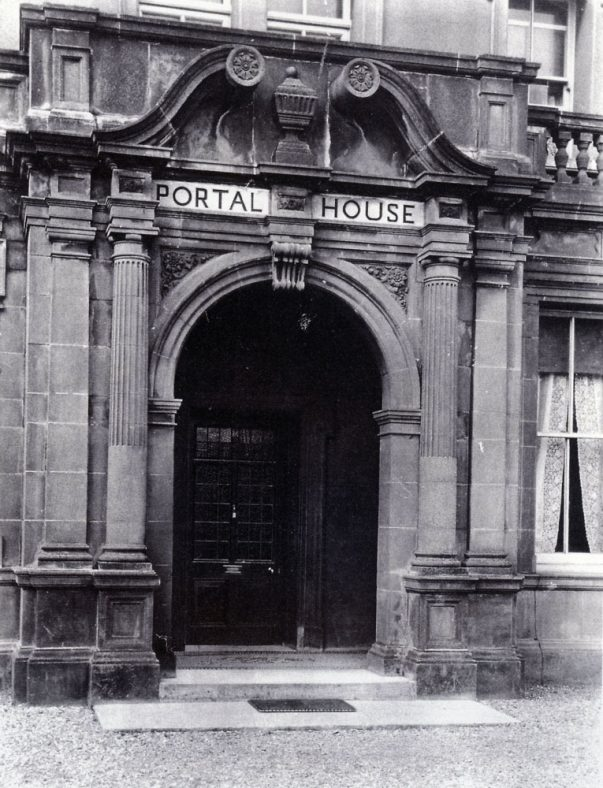 Portal House entrance doorway; Extension. c1920